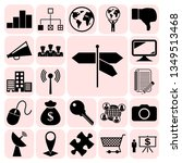 set of 22 business icons ... | Shutterstock .eps vector #1349513468