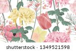 botanical seamless pattern ... | Shutterstock .eps vector #1349521598