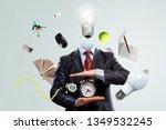 head full of ideas. mixed media | Shutterstock . vector #1349532245