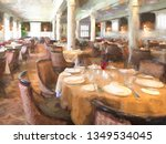 impressionistic daylight view... | Shutterstock . vector #1349534045