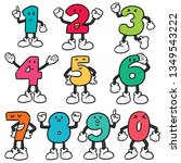 vector set of number cartoon | Shutterstock .eps vector #1349543222