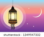 ramadan crescent and lantern | Shutterstock .eps vector #1349547332
