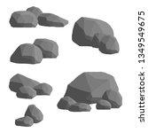 set of gray granite stones of... | Shutterstock .eps vector #1349549675