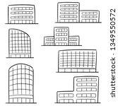 vector set of building | Shutterstock .eps vector #1349550572