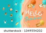 hello summer seasonal vector... | Shutterstock .eps vector #1349554202