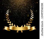realistic gold laurel wreath... | Shutterstock .eps vector #1349556038