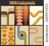 vintage color backgrounds set... | Shutterstock .eps vector #1349571572