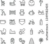 thin line vector icon set  ...   Shutterstock .eps vector #1349582405