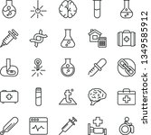 thin line vector icon set  ... | Shutterstock .eps vector #1349585912