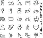 thin line vector icon set  ... | Shutterstock .eps vector #1349586035