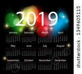colorful calendar design | Shutterstock . vector #1349605115