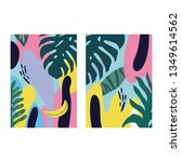 abstract summer pattern for... | Shutterstock .eps vector #1349614562