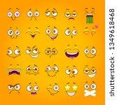humorous emoji set. emoticon... | Shutterstock .eps vector #1349618468