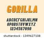 vector latin uppercase alphabet ... | Shutterstock .eps vector #1349627108