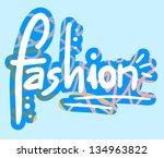 sticker fashion | Shutterstock .eps vector #134963822