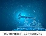 oil derrick. vector 3d object.... | Shutterstock .eps vector #1349655242