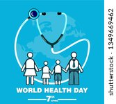 world health day concept  poster | Shutterstock .eps vector #1349669462