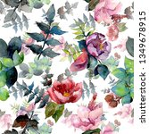bouquet composition botanical... | Shutterstock . vector #1349678915