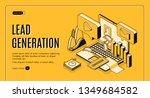 lead generation internet... | Shutterstock .eps vector #1349684582
