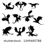 ten stylized silhouettes of... | Shutterstock .eps vector #1349685788