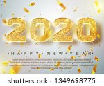 2020 happy new year. gold... | Shutterstock .eps vector #1349698775