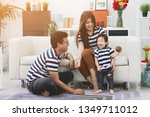 happy asian family father and...   Shutterstock . vector #1349711012