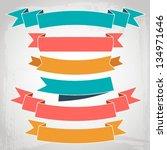 vector ribbons | Shutterstock .eps vector #134971646