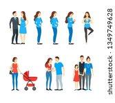 cartoon characters family... | Shutterstock .eps vector #1349749628