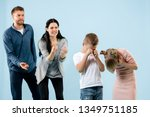 angry parents scolding their...   Shutterstock . vector #1349751185