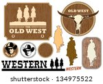 illustration of western cowboy... | Shutterstock .eps vector #134975522
