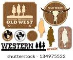 illustration of western cowboy... | Shutterstock .eps vector #134975522