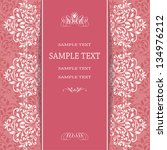 invitation card with floral... | Shutterstock .eps vector #134976212