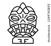 ritual idol icon. outline... | Shutterstock . vector #1349765855