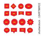 new sticker set. red promotion... | Shutterstock .eps vector #1349788922