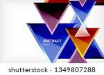 tech futuristic geometric 3d... | Shutterstock .eps vector #1349807288
