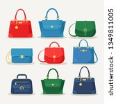 feminine handbag for shopping ...   Shutterstock .eps vector #1349811005