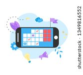 online calendar with marks ... | Shutterstock .eps vector #1349816552