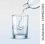 water pouring into realistic... | Shutterstock .eps vector #1349822462