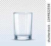 empty glass on transparent... | Shutterstock .eps vector #1349822558