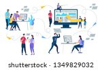 set of young people characters... | Shutterstock .eps vector #1349829032