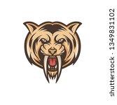 saber tooth tiger vector | Shutterstock .eps vector #1349831102