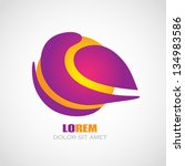 abstract color logo design.... | Shutterstock .eps vector #134983586