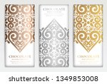 luxury golden packaging design... | Shutterstock .eps vector #1349853008