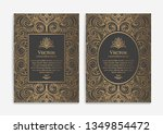 gold vintage greeting card... | Shutterstock .eps vector #1349854472