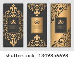 gold and black packaging design ... | Shutterstock .eps vector #1349856698