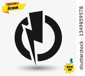 electric power. vector. | Shutterstock .eps vector #1349859578