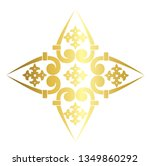 vector  vintage baroque cross... | Shutterstock .eps vector #1349860292