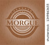 morgue badge with wood... | Shutterstock .eps vector #1349863655