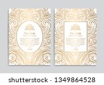 gold and white vintage greeting ... | Shutterstock .eps vector #1349864528