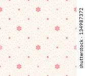 retro seamless pattern. pink...   Shutterstock .eps vector #134987372